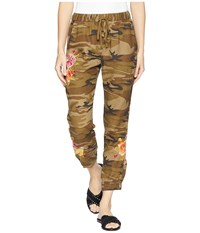 Johnny Was Vella Jogger Pants Camouflage Casual Pants Multi