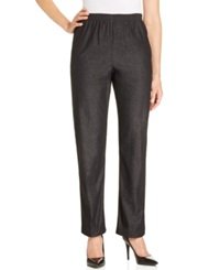 Alfred Dunner High Rise Pull On Jeans Black