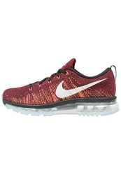 Nike Performance Flyknit Max Neutral Running Shoes Black Summit White Team Red Bright Citrus Ember Glow