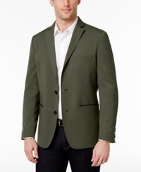 Inc International Concepts Men's Faux Leather Trimmed Blazer Only At Macy's Dusty Green
