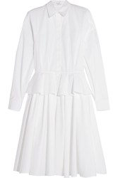 Givenchy Cotton Poplin Peplum Shirt Dress White
