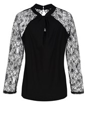Morgan Tungle Long Sleeved Top Noir Black