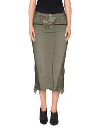 Marithe' F. Girbaud Le Jean De Marithe Francois Girbaud 3 4 Length Skirts Military Green