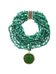 Rosantica By Michela Panero Fato Multi Strand Stone Necklace Green