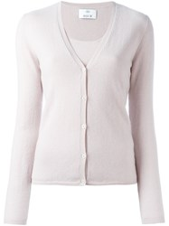 Allude Classic Cardigan Pink And Purple