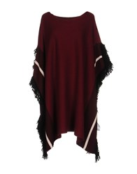 Space Style Concept Capes And Ponchos Maroon