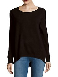 Leo And Sage Long Sleeve Cashmere Sweater Black