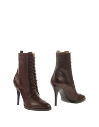 Ralph Lauren Collection Ankle Boots Dark Brown