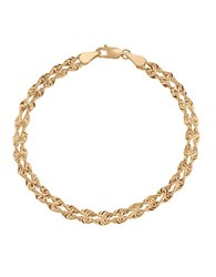 Lord And Taylor 14K Yellow Rope Chain Bracelet Yellow Gold