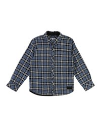 Little Marc Jacobs Long Sleeve Flannel Shirt Size 6 10 Blue