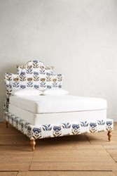 Anthropologie Fan Woven Ainsworth Bed White