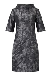 James Lakeland Taffeta Icon Dress Grey