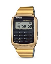 Casio Vintage Calculator Watch 44.9Mm X 34.8Mm Black Gold