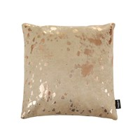 A By Amara Acid Burnt Cowhide Cushion 45X45cm Beige Bronze
