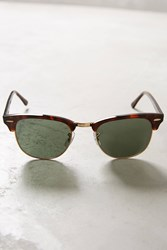 Anthropologie Ray Ban Clubmaster Sunglasses Brown Motif