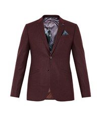 Ted Baker Austin Wool Twill Jacket Red