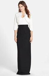 Women's Adrianna Papell Embellished Colorblock Crepe Gown With Bolero