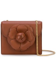 Oscar De La Renta Tro Mini Crossbody Bag Brown
