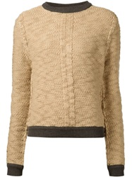 Sea Piped Cable Knit Sweater Nude And Neutrals