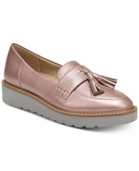 Naturalizer August Platform Loafers Rose Gold