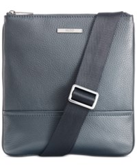 Hugo Boss Men's Leather Element Pouch Dk Bu