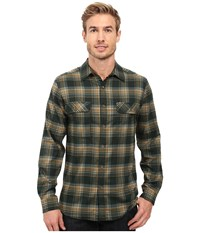 Royal Robbins Valley Performance Long Sleeve Plaid Shirt Dark Spruce Men's Long Sleeve Button Up Green