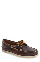 Sperry Men's 'Authentic Original Waterloo' Boat Shoe Burgundy Brown Leather