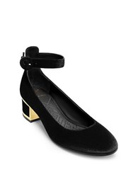 Brian Atwood Meriel Velvet Mary Jane Pumps Black