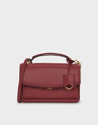 Charles And Keith Classic Satchel Bag Maroon