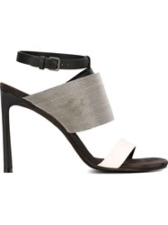 Brunello Cucinelli Metallic Strap Detail Sandals Black