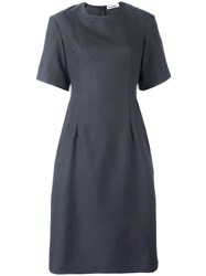 Jil Sander Shortsleeved Midi Dress Grey
