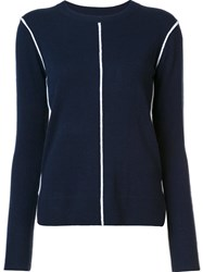 Derek Lam 10 Crosby Crew Neck Jumper Blue