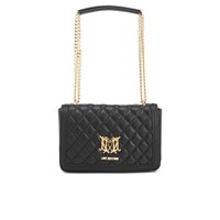 Love Moschino Women's Quilted Chain Tote Bag Black
