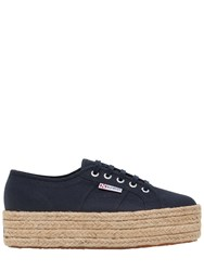 Superga 40Mm Canvas Platform Sneakers Navy