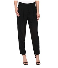 Calvin Klein Trouser Pants W Pleat Black Women's Casual Pants