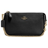 Coach Nolita Pebbled Leather Wristlet Purse Black