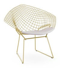 Knoll Bertoia Gold Diamond Chair Yellow