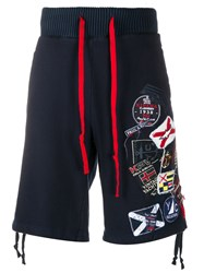 Paul And Shark Badge Embroidery Track Shorts 60