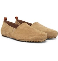 Mulo Suede Loafers Tan