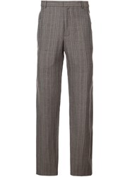 Y Project Checked Tailored Trousers Brown