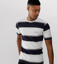 Nicce London Stripe T Shirt In White
