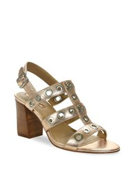 Tahari Advice Metallic Leather Sandals Rose Gold
