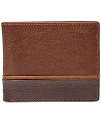 Fossil Ian Bifold With Flip Id Leather Wallet