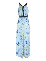 Jane Norman Floral Printed Maxi Dress Multi Coloured