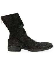 Guidi Relaxed Zipped Boots Horse Leather Leather Black