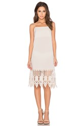 Donna Mizani Crochet Slip Dress Beige