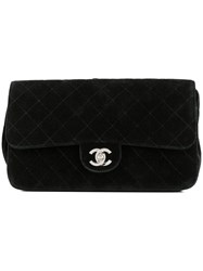 Chanel Vintage Quilted Cc Logo Chain Backpack Black