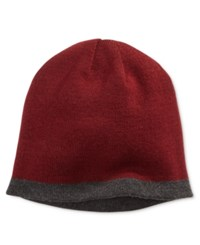 Alfani Men's Reversible Beanie Only At Macy's Gray Burgundy