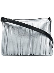 Gum Fringed Shoulder Bag Metallic