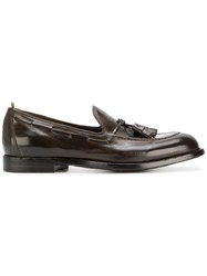 Officine Creative Tassel Detail Loafers Calf Leather Leather Brown